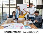 group of asian and multiethnic... | Shutterstock . vector #622800614