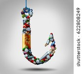 hooked on medicine and... | Shutterstock . vector #622808249