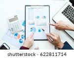 business team meeting working... | Shutterstock . vector #622811714