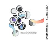 abstract vector background with ... | Shutterstock .eps vector #622816364