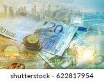 double exposure of city ... | Shutterstock . vector #622817954