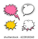 set of pop art explosion and... | Shutterstock .eps vector #622818260