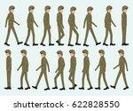 collection set of walking man...