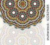 floral oriental pattern with... | Shutterstock . vector #622829684