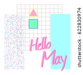 hello may. postcard with a... | Shutterstock .eps vector #622830974