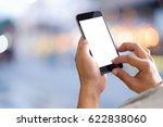 smart phone showing blank... | Shutterstock . vector #622838060