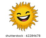 smiling  sun cartoon character... | Shutterstock .eps vector #62284678