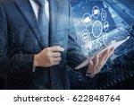 double exposure of professional ... | Shutterstock . vector #622848764