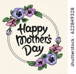 happy mothers day card with... | Shutterstock .eps vector #622849328
