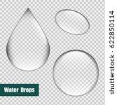 bubbles set  water drops set.... | Shutterstock .eps vector #622850114