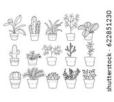 hand drawn vector for plant | Shutterstock .eps vector #622851230