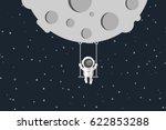 flat design  astronaut are... | Shutterstock .eps vector #622853288