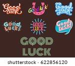 good luck text farewell vector... | Shutterstock .eps vector #622856120