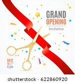 grand opening invitation card... | Shutterstock .eps vector #622860920