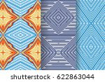 set of 3 abstract patterns.... | Shutterstock .eps vector #622863044