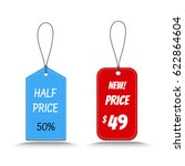 price tag for sale vector | Shutterstock .eps vector #622864604