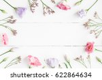 flowers composition. frame made ... | Shutterstock . vector #622864634