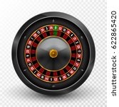 realistic casino gambling... | Shutterstock .eps vector #622865420