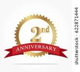 2nd golden anniversary logo... | Shutterstock .eps vector #622871444