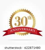 30th golden anniversary logo... | Shutterstock .eps vector #622871480