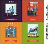 vector set of research... | Shutterstock .eps vector #622872353