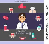 medical dental background... | Shutterstock .eps vector #622872524