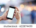 smart phone showing blank...   Shutterstock . vector #622874450