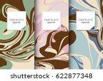 chocolate bar packaging set.... | Shutterstock .eps vector #622877348