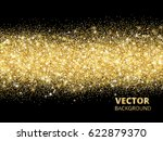 sparkling glitter border on... | Shutterstock .eps vector #622879370