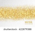 sparkling glitter border... | Shutterstock .eps vector #622879388