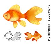3d vector illustration and ink... | Shutterstock .eps vector #622884848