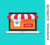 online shop vector illustration ... | Shutterstock .eps vector #622886258