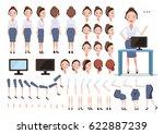 female call center character... | Shutterstock .eps vector #622887239