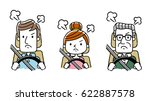 driving people  get angry ... | Shutterstock .eps vector #622887578