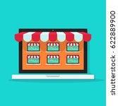 marketplace online vector... | Shutterstock .eps vector #622889900