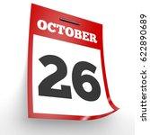 October 26. Calendar On White...