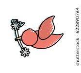 dove branch flower symbol image | Shutterstock .eps vector #622890764