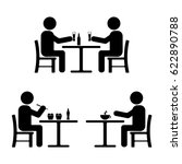 stick figure set. eating ... | Shutterstock .eps vector #622890788