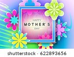 mother s day greeting card with ... | Shutterstock .eps vector #622893656