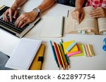 education concept. students... | Shutterstock . vector #622897754