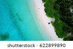 top view of white sand beach... | Shutterstock . vector #622899890