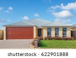 typical facade of a modern... | Shutterstock . vector #622901888