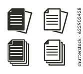 document vector icons set.... | Shutterstock .eps vector #622902428