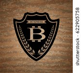 the vector shield with bit coin ... | Shutterstock .eps vector #622905758