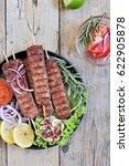 kebab . traditional oriental...   Shutterstock . vector #622905878