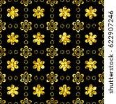 golden background with... | Shutterstock .eps vector #622907246