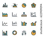 vector flat diagram icons set... | Shutterstock .eps vector #622909094
