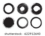 set of grunge circles.distress... | Shutterstock .eps vector #622912640