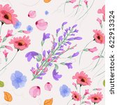 floral seamless pattern | Shutterstock .eps vector #622913324