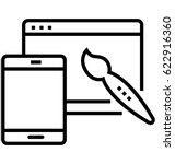 website design vector icon | Shutterstock .eps vector #622916360